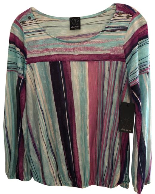 Ella Moss Multi Color With Long Sleeves Tunic Size 8 (M) Ella Moss Multi Color With Long Sleeves Tunic Size 8 (M) Image 1