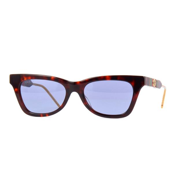 Gucci 002 Dark Havana New Gg0598s Side Marble Sunglasses Gucci 002 Dark Havana New Gg0598s Side Marble Sunglasses Image 1