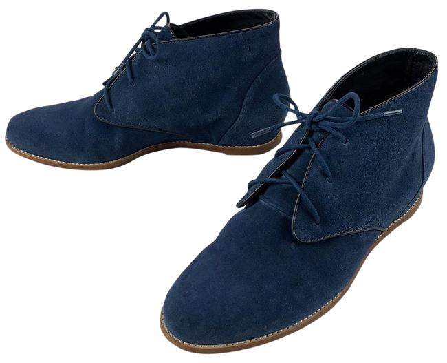 Item - Navy Blue Wedge Boots/Booties Size US 7 Regular (M, B)