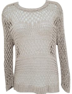 Christian Siriano Tape Yarn Open Stitch 3/4 Sleeve Sweater