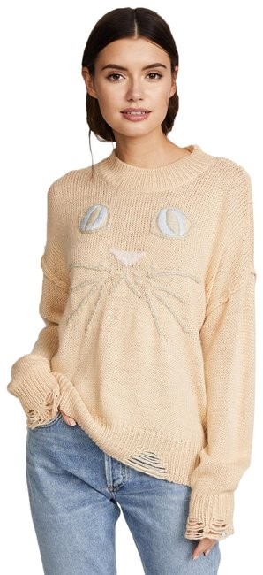 Item - Cat Face Whiskers Peach Sweater