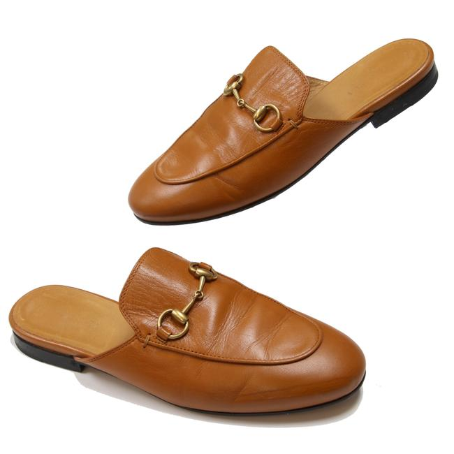 Item - Brown Horsebit Signature Princetown Leather Mule Loafers with Gold 35.5 Sneakers Size US 5.5 Regular (M, B)