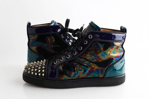 Christian Louboutin Multicolor Stellar Louis Spikes Patent Sneakers Shoes