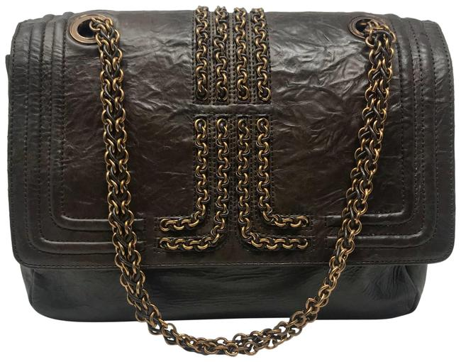 Item - Chain Limited Edition Brown Lambskin Leather Shoulder Bag