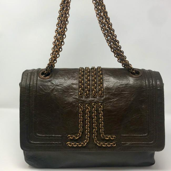 Lanvin Chain Limited Edition Brown Lambskin Leather Shoulder Bag Lanvin Chain Limited Edition Brown Lambskin Leather Shoulder Bag Image 2