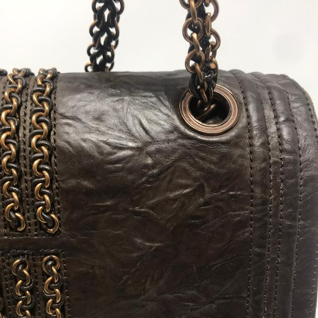 Lanvin Chain Limited Edition Brown Lambskin Leather Shoulder Bag Lanvin Chain Limited Edition Brown Lambskin Leather Shoulder Bag Image 11