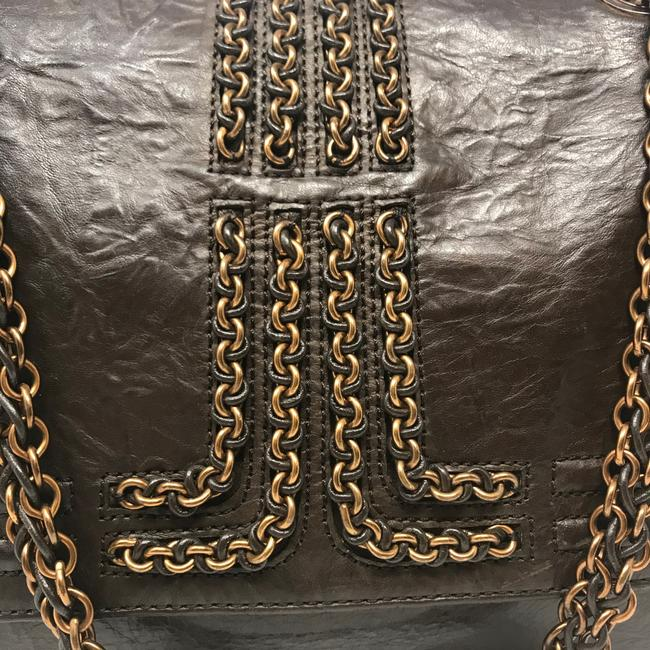 Lanvin Chain Limited Edition Brown Lambskin Leather Shoulder Bag Lanvin Chain Limited Edition Brown Lambskin Leather Shoulder Bag Image 3