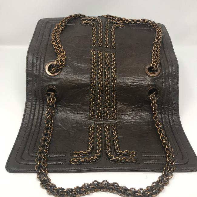 Lanvin Chain Limited Edition Brown Lambskin Leather Shoulder Bag Lanvin Chain Limited Edition Brown Lambskin Leather Shoulder Bag Image 4