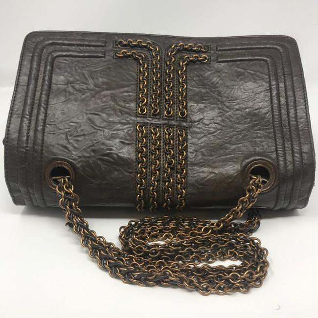 Lanvin Chain Limited Edition Brown Lambskin Leather Shoulder Bag Lanvin Chain Limited Edition Brown Lambskin Leather Shoulder Bag Image 5