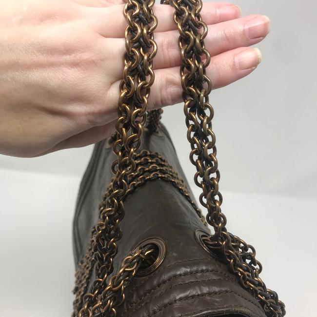 Lanvin Chain Limited Edition Brown Lambskin Leather Shoulder Bag Lanvin Chain Limited Edition Brown Lambskin Leather Shoulder Bag Image 6