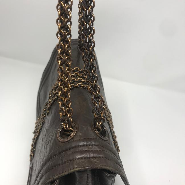 Lanvin Chain Limited Edition Brown Lambskin Leather Shoulder Bag Lanvin Chain Limited Edition Brown Lambskin Leather Shoulder Bag Image 10