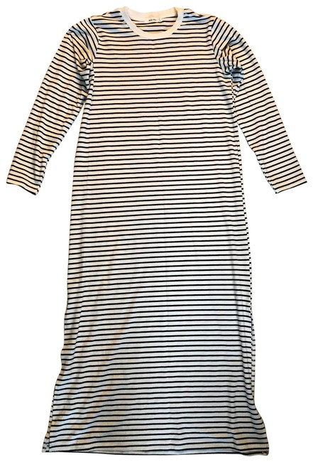 Item - Black/White Stripe Long Casual Maxi Dress Size 4 (S)