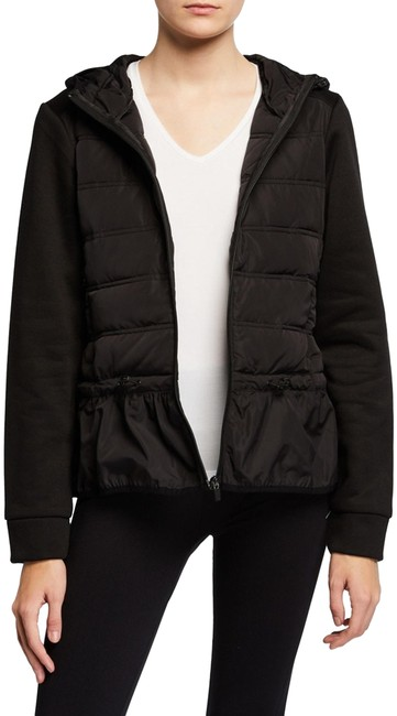 Item - Black Peplum Quilted Hooded Lightweight Puffer Style No. Bmax5001 Jacket Size 4 (S)