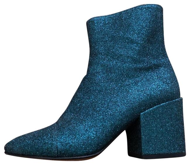 Item - Turquoise Green Glitter Ankle Boots/Booties Size EU 37.5 (Approx. US 7.5) Regular (M, B)
