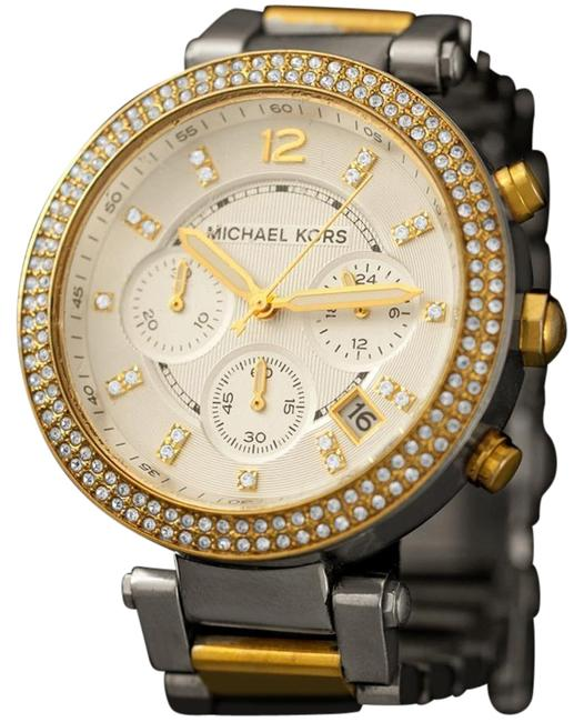 Item - Silver with Guilloche Parker Glitz Ladies Steel & Gold Chronograph Owne Watch