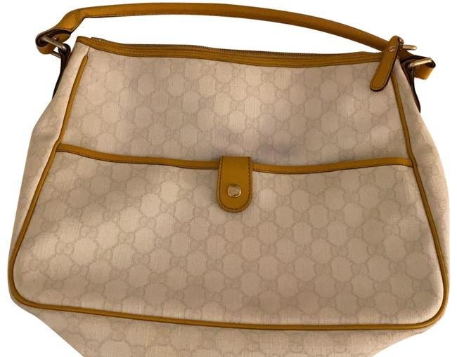 Item - Withe Monogram White Coated Canvas Messenger Bag