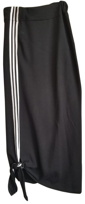 Item - Black Casual Chic Pencil with 3 White Stripe Fancy Skirt Size 6 (S, 28)