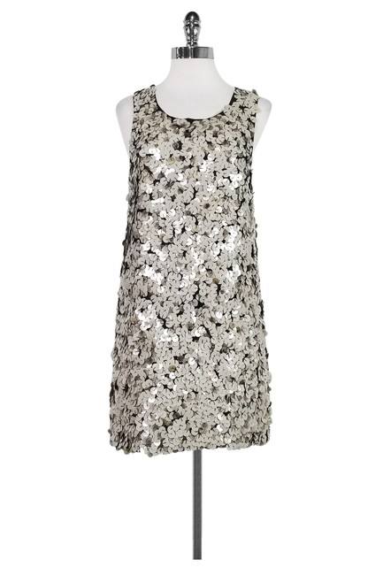 Item - Silver Sequin Mini Short Night Out Dress Size 8 (M)