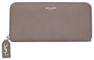 Saint Laurent YSL Rive Gauche Sold Out Continental Zip Wallet in Fog / Grey