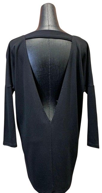 Item - Black Tunic with Sexy Triangle Open Design Short Night Out Dress Size 00 (XXS)