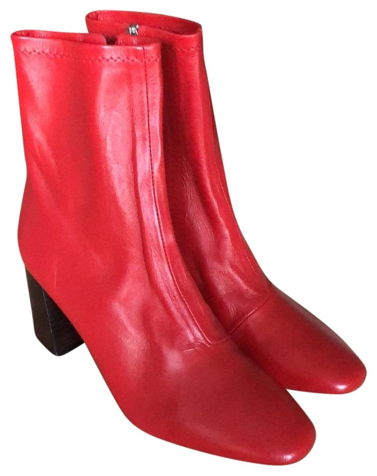 Loeffler Randall Red Elise In Stretch Leather BootsBooties Size US 8 Regular (M, B) 67% off retail