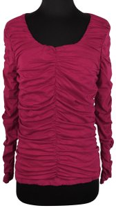 Sundance Rosalind Ruched Longsleeve Casual Top Pink