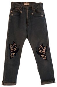 Bliss and Mischief Straight Leg Jeans-Medium Wash