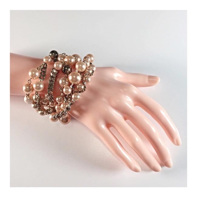 Item - Peach Gold Bauble Multi-strand Bracelet