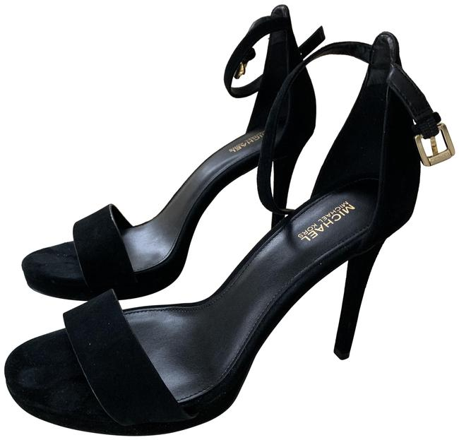 Item - Black Suede Ankle Strap. Platforms Size US 7.5 Regular (M, B)