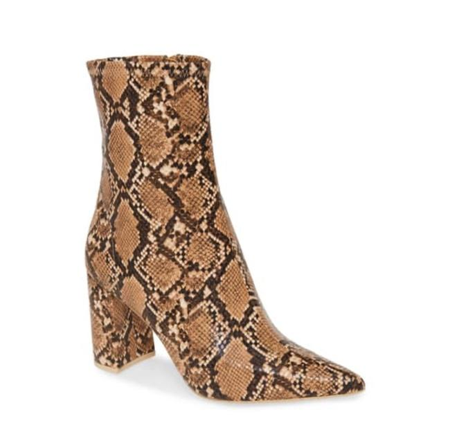 Item - Multicolor Snake Print Boots/Booties Size US 6.5 Regular (M, B)
