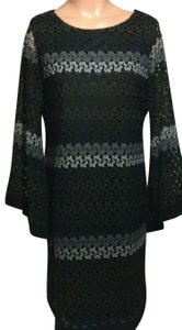 Emma & Michele Lace Bell Sleeves Embroidered Dress