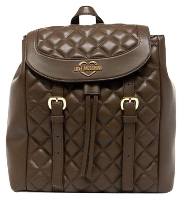 Item - / Love / Quilted Brown Backpack