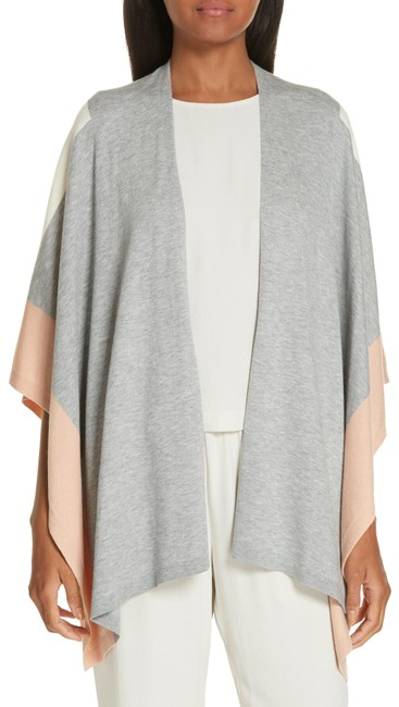 Eileen Fisher Multicolor Dark Pearl Colorblock Wrap Poncho/Cape Size OS (one size) Eileen Fisher Multicolor Dark Pearl Colorblock Wrap Poncho/Cape Size OS (one size) Image 1