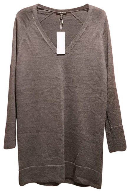 Eileen Fisher Gray Ash Deep V-neck Tunic Size 14 (L) Eileen Fisher Gray Ash Deep V-neck Tunic Size 14 (L) Image 1