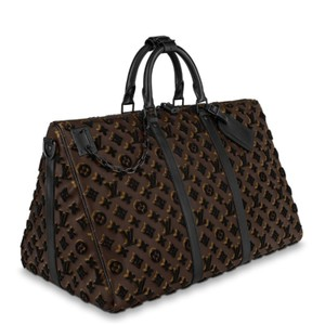 Louis Vuitton Brown & Black Tuffetage Travel Bag