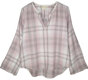Cloth & Stone Flare Sleeves Popover Plaid Flannel Soft Top