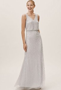 BHLDN Fog Polyester Blaise Formal Bridesmaid/Mob Dress Size 8 (M)