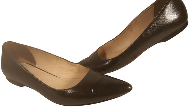 Item - Black Women's Patent Leather Ribbed Dress Casual Office 8aa Flats Size US 8 Narrow (Aa, N)