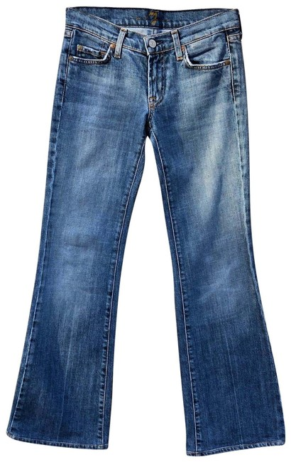 Item - Blue Light Wash Denim Cotton Straight Leg Jeans Size 25 (2, XS)