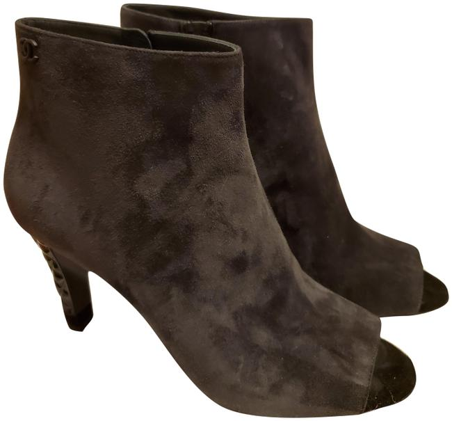 Item - Grey Suede Calfskin Open Toe Boots/Booties Size EU 40.5 (Approx. US 10.5) Regular (M, B)
