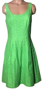 Lilly Pulitzer short dress Green Floral Lace on Tradesy