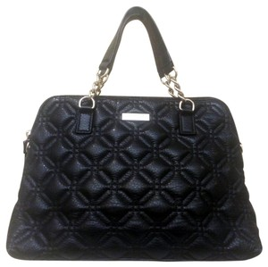 Kate Spade Very Stylish Quilted Look Leather Satchel in Black