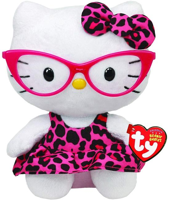 Item - Pink Ty Beanie Babies Nerd with Glasses Leopard Plush Doll