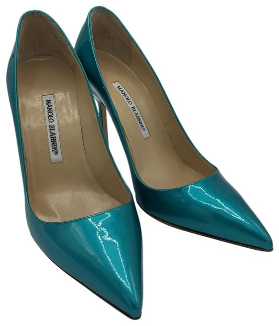 Item - Turquoise Turchese Patent Leather Pumps Size EU 38 (Approx. US 8) Regular (M, B)