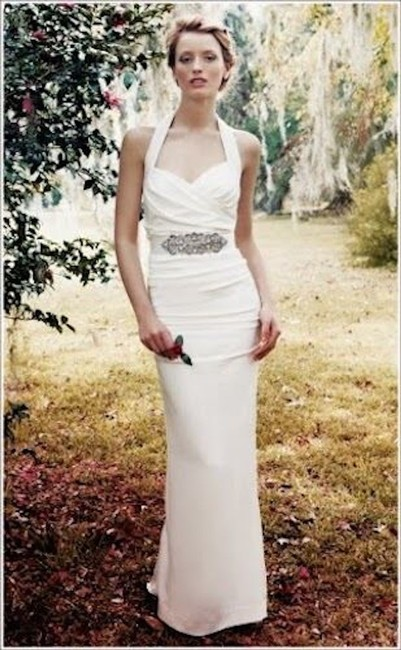 Item - Ivory Silk Marilyn Gown Fj0019 0 Formal Wedding Dress Size 0 (XS)