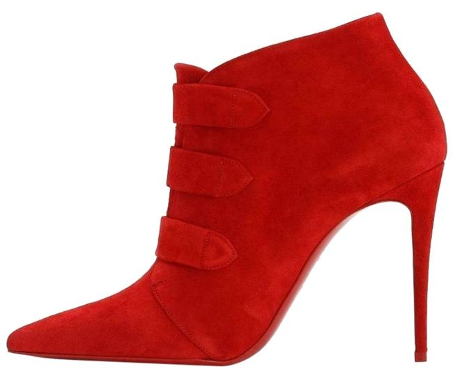 Item - Red Triniboot 100 Suede Stiletto Heel Ankle Boots/Booties Size EU 40.5 (Approx. US 10.5) Regular (M, B)