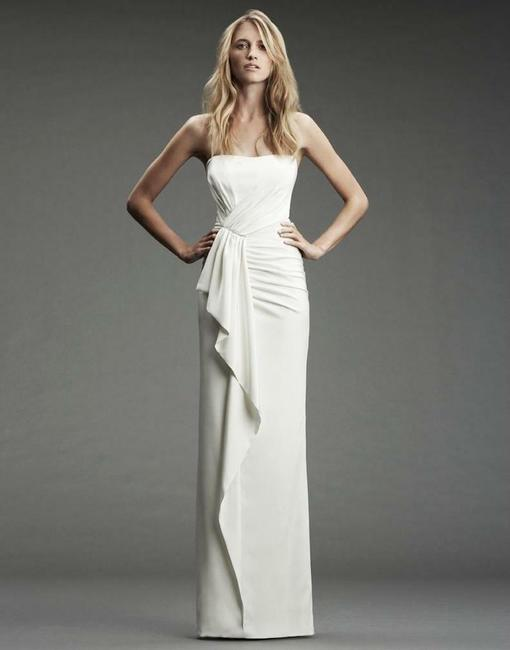 Item - Ivory Silk Heritage Collection Gown Fa0027 Formal Wedding Dress Size 8 (M)