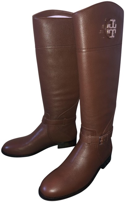 Item - Brown Adeline 20mm Tumbled Leather Riding Boots/Booties Size US 9.5 Regular (M, B)