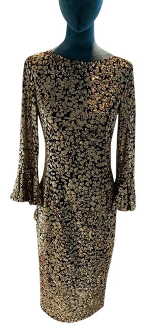 Item - Gold and Black Long Formal Dress Size 8 (M)