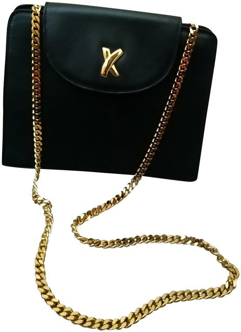 Paloma Picasso Black Leather Cross Body Bag Paloma Picasso Black Leather Cross Body Bag Image 1